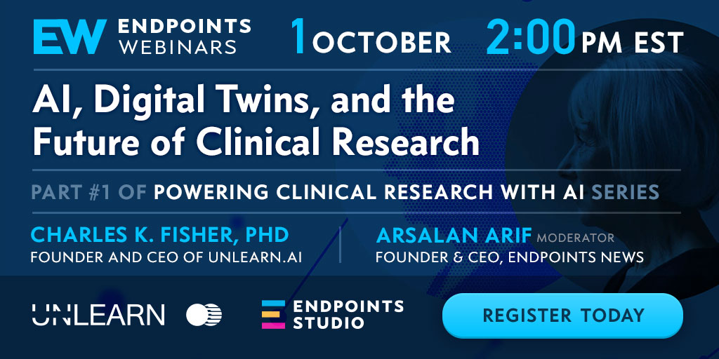 endpts.com - AI, Digital Twins, and the Future of Clinical Research - Endpoints Webinars